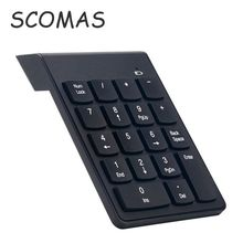 SCOMAS 2.4G Wireless Keyboard USB Numeric Keypad Mini Digital Keyboard Number Pad for Laptop Notebook PC Computer Keyboard Best