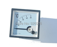 Thermometers 0-50 degree 72mm*72mm/ input 0-10v DC/ also can making according clients need!!!(China)
