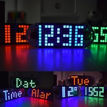 New Arrival DIY DS3231 Touch Key Precision High-Brightness LED Dot Matrix Display Desktop Alarm Clock Kit(China)