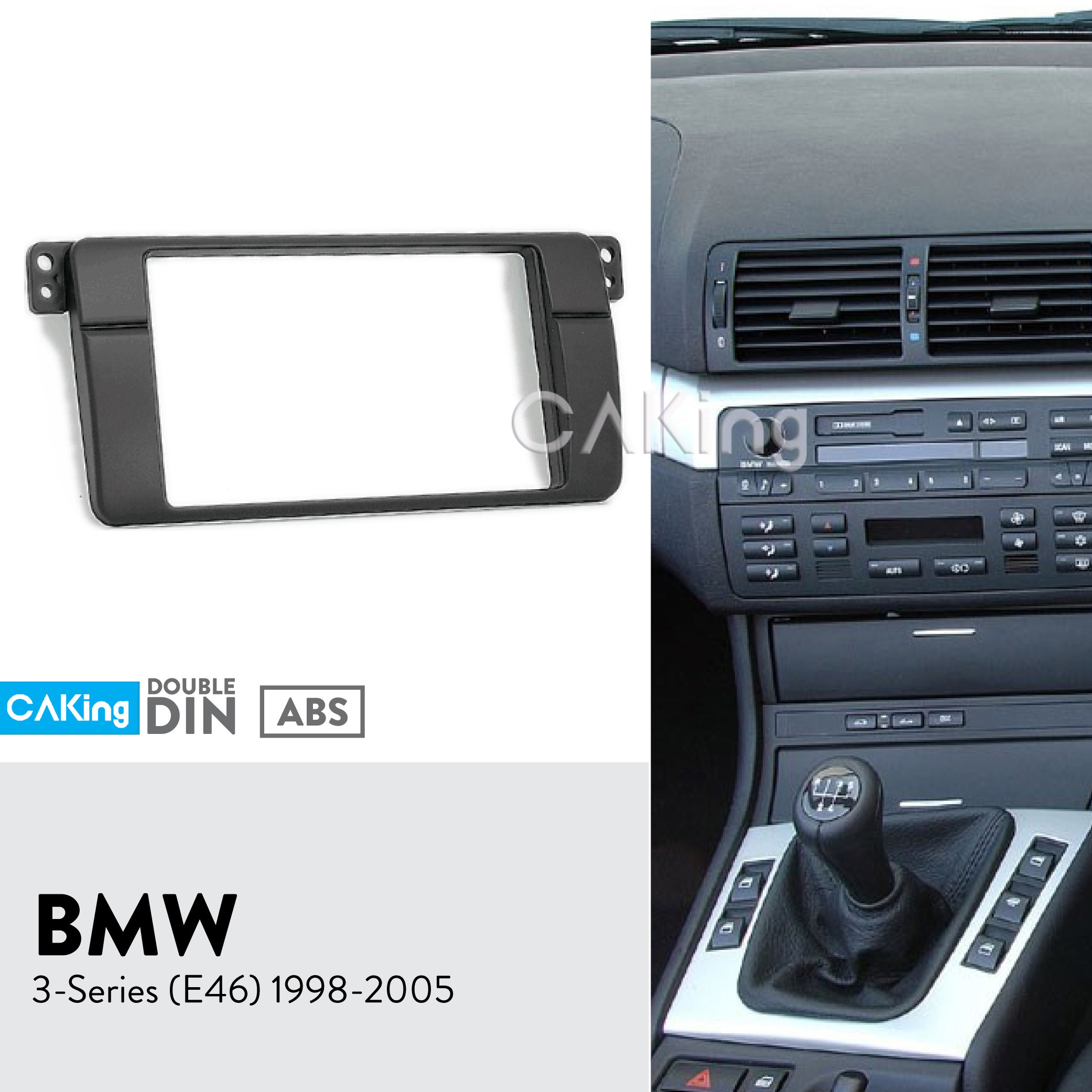 BMW E46 Double Din Car Fascia Radio Holder Stereo Cage
