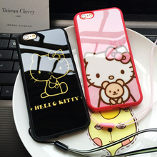 Fashion Hello Kitty Phone Case For Iphone 5 5s 6 6s 6/6s Plus Case Mirror Back Cover High Quality Phone Case Protector Cover