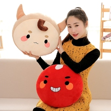Candice guo! cute plush toy alone and brilliant ghosts goblin buckwheat red beans cushion sofa pillow creative birthday gift 1pc(China)