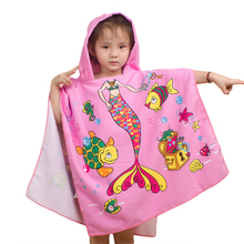 New Children Beach Towel 120*60cm Kids Hooded Cloak Cartoon Baby Boys Girls Towel Bibulous Towel For Children Serviette De Bain