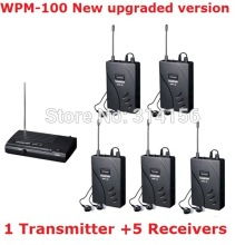 Upgraded Takstar wpm-100/ wpm100 UHF Stage Wireless Monitor System In-Ear earphone Wireless Stereo 1 Transmitter +5 Receivers(China)
