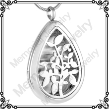 MJP0003 Wholesale Cheap Essential Oil Diffuser Necklace Stainless Steel Perfume Locket Hollow Tree of Life Pendant