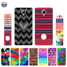 For OnePlus 3 / 3T Phone Case For One Plus 5 Shell For One Plus 2 Coque 5.5 Inch Cover Soft TPU Stripes Squares Design Painted(China)