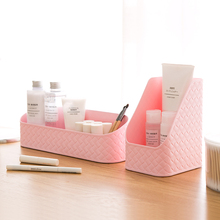 Fashion Desktop Decor Organizer Case Pen Box Holder Makeup Cosmetic Stationery Box Desk Storage box organizers plastic box 64890