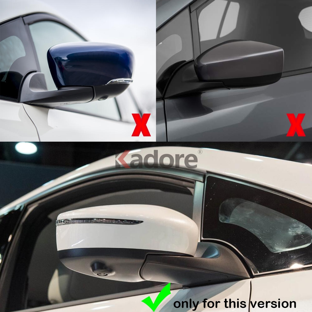 Side Door Rear View Mirror Cover Strip Trim ABS Chrome 2pcs For Nissan Leaf 2018
