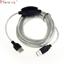 Mosunx Factory Price 15FT 5M USB 2.0 Active Repeater Cable Extension For Computer Plug 60316