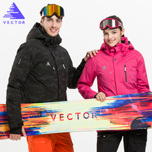 VECTOR Brand Ski Jackets Men Women Professional Winter Warm Skiing Snowboarding Jacket Waterproof Snow Clothing HXF70006(China)