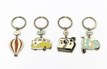 hot Air balloon bus camera motorcycle keychain metal fashion cute keyring jewelry fine accessories free shipping