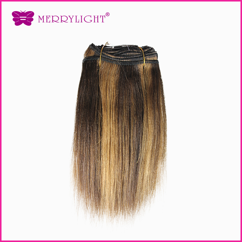 New yaki Brazilian remy hair Straight weaves human hair extension Color p2-30 1bundle 100% remy hair extensions 100g 08inch<br><br>Aliexpress