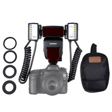 Yongnuo Speedlite YN-24EX TTL Dual Head Macro Ring Flash Light for Canon DSLR Oral Cavity Teeth Ornaments Close-up Photography
