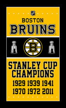 Boston Bruins Flag 3X5FT 90x150cm 100D Polyester digital printing STANLEY CUP CHAMPIONS banner