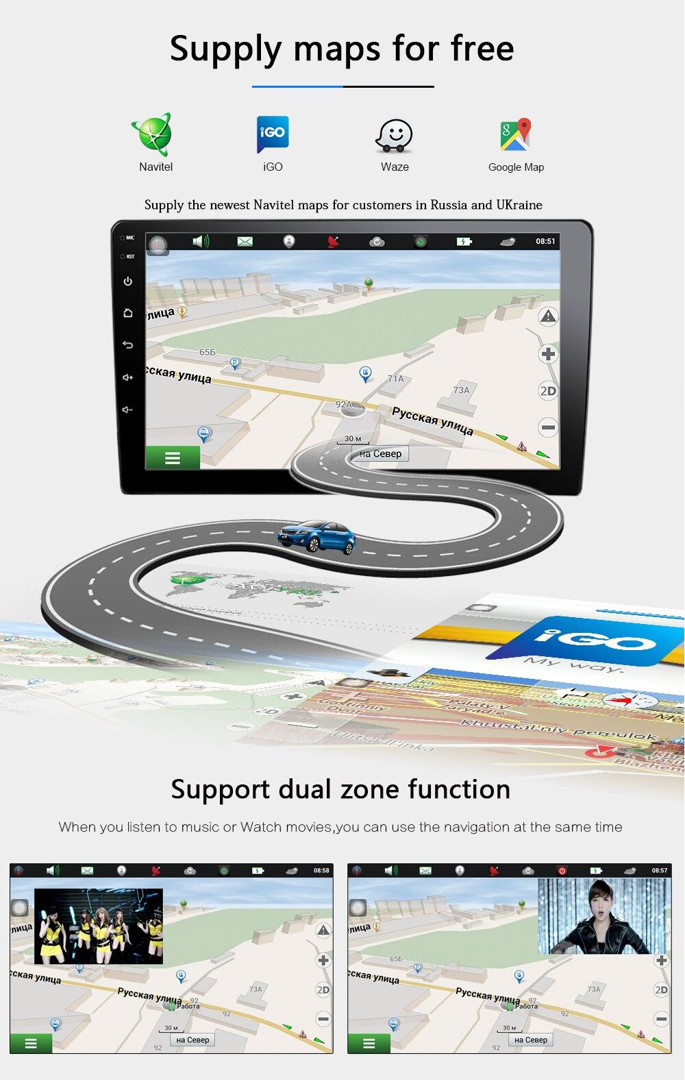 B3 Car DVD GPS android 6.0 Player 2 din radio New universal GPS Navigation Multimedia For Nissan Toyota Volkswagen Mazda BYD Kia VW