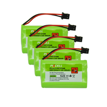 PKCELL NiMh Battery Pack- 4PCS A SET! Cordless Home Phone Battery Ni-MH 800mAh 3.6V for Uniden BT-446 BT446 ER-P512