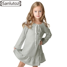 Sanlutoz Girls Clothes Winter 2017 Children Clothing Toddler Girl Dress Lace Long Sleeve Autumn Spring Fashion Wedding Party(China)
