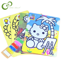 5 Pack Children Kids Drawing Toys Sand Painting Pictures Kid DIY Crafts Education Toy Pattern Random(China)
