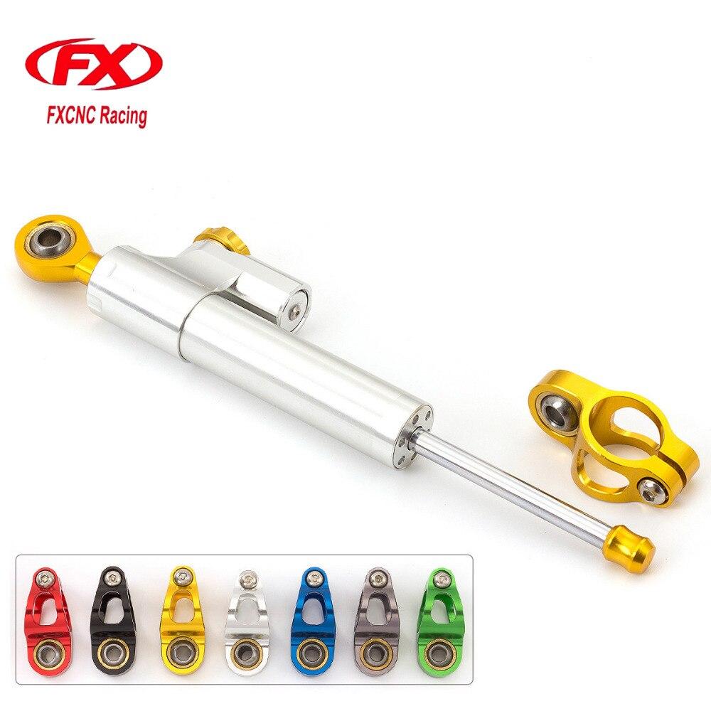 FXCNC Aluminum Adjustable Universal Motorcycle Steering Damper Stabilizer For Honda HORNET CB600F HORNET CB 600 2007-2016<br>
