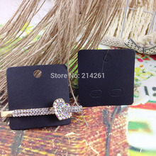 2015 New Hot Black  Earring CARD 45X45MM Hair Clip card Brooch Card For Mult Jewelry  Custom Logo Cost Extra MOQ : 1000PCS