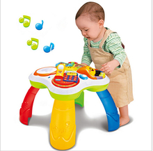 Multi-function music flash learn game table phone + book + Electronic organ + Drum 4 in 1 read machine sets baby educational toy