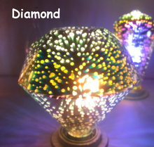 New E27 ST64 Diamond Five-Pointed Star 3D Led Blubs,3d Colorful Bulb Magic Bulb Christmas Decoration Lamp For Home AC 85-265V