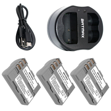 3X High Capacity EN-EL3E EN-EL3e ENEL3E EN EL3E Batteries & Dual USB Charger for Nikon D50 D70 D80 D90 D100 D200 D300 D700 z1(China)