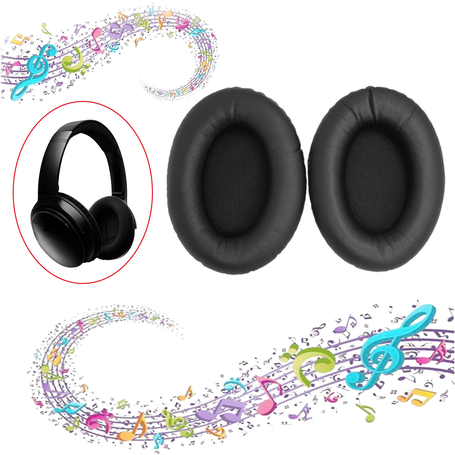 Vococal 1Pair Replacement Memory Foam Ear Pads Cap Cushion ouvido for Bose QuietComfort QC15 AE2 AE2I AE2W QC2 QC25 Headphones(China (Mainland))