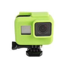 Colorful Gopro Hero 5 Soft Rubber Camera Case Protective Silicone Case for Go Pro Hero 5  Black Frame Housing Camera Accessories