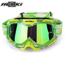 NENKI Motocross Goggles Cross Country Skis Snowboard ATV Mask Oculos Gafas Motocross Motorcycle Helmet 1016GN MX Goggles Glasses