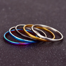 NJ207 Hot Sale 5 Pieces / Set Mixed Color Rings Concise Design Fashion Stainless Steel Finger Rings Women's Jewelry Wholesale(China)