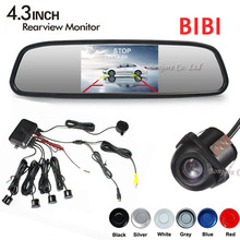 Buy 3in1 Car Video Parking Assistance, 4.3 Inch TFT Auto Mirror Monitor Rear View Camera Reversing Radar Sensor System for $39.00 in AliExpress store