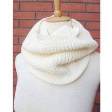 High Quality FreeShipping Hot Women Lady Winter Warm Infinity 2 Circle Cable Knit Cowl Neck Long Scarf Shawl For Women(China)
