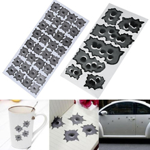 32 Bullet Hole Orifice Sticker Graphic Decal Shothole Car Auto Helmet Windows 8P8U