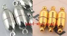 OMH wholesale 19mm 10Sets Silver Plated & for choose Round Ball Magnetic Clasps Charms Magnet button beads OMH37