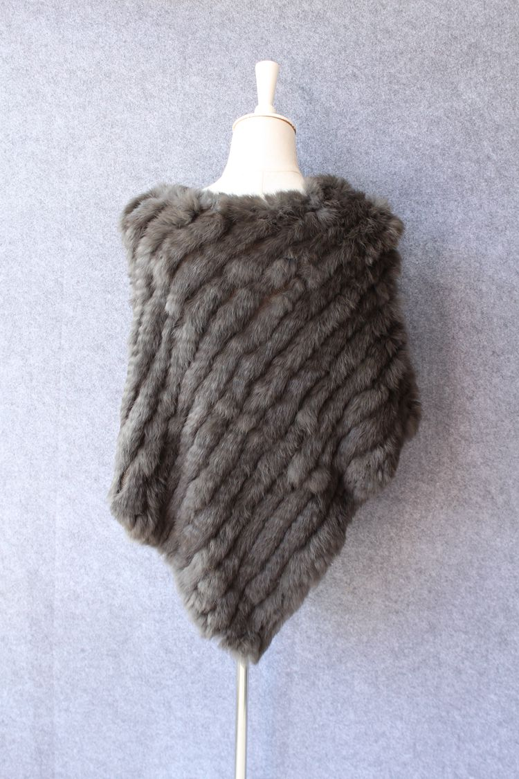 natural knitted rabbit fur scarf wraps (6)