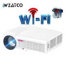 WZATCO 5500Lumen Android Smart Wifi 1080P Full HD LED LCD 3D Video DVBT TV Projector portable Multimedia Home cinema Beamer(China)
