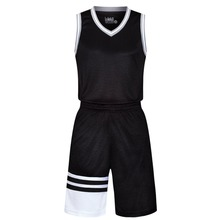 2017 Men Basketball Jersey Sets Uniforms kits Sports clothes stripe Traning Breathable vest shirts and shorts suits Customized