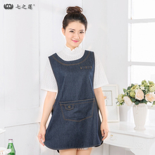 2017 Hot Sale Kitchen Women free shipping Apron+Pocket , Bib, Chef Aprons Tablier Femme envoi gratuit 30059