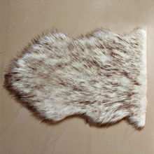 Artificial Sheepskin Fluffy Long Fur Chair Seat Sofa Cover Home Decorative Carpet Mat Pad Area Rug Bedroom White Black Point(China)