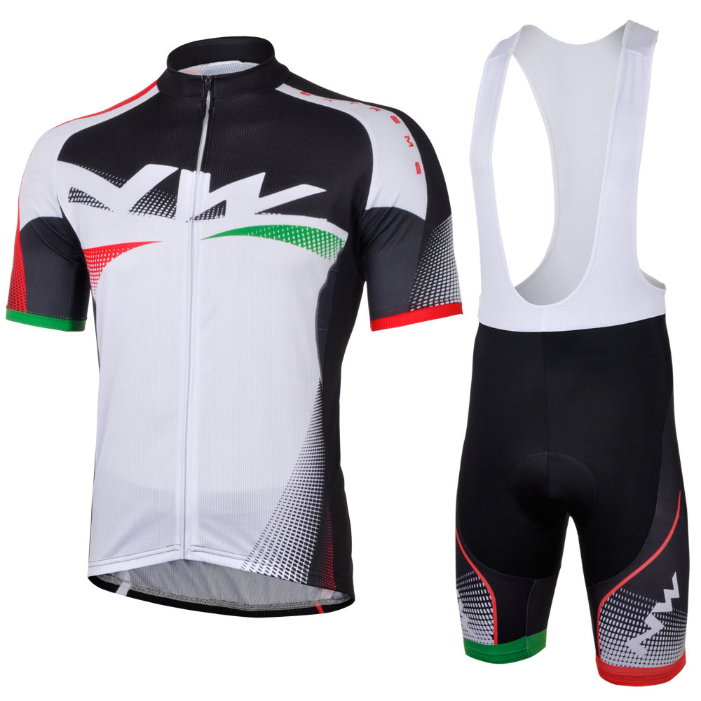 3D Silicone! NW Northwave 2013 #2 bib short sleeve cycling jersey wear clothes bicycle jersey + bib pants shorts gel pad<br><br>Aliexpress