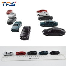 50PCS 1/100 scale ABS plastic model car toy for architectural miniature kits