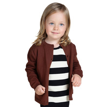 Candy Color Baby Cardigan for Girl Boy Solid Autumn Spring Casual Cotton Kids Infant Sweater 10 Colors