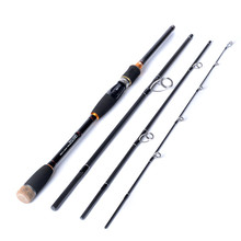 New high carbon fishing rod 4 section 2.1 m lure rod line wt 12-25 lb bait casting and spinning fishing rod fishing supplies(China)