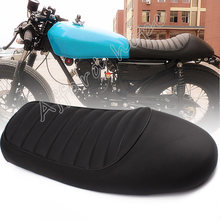 Black Old School Retro Vintage Saddle Motorcycle Hump Racer Seat Cushion Universal Fit For Honda CL100 Yamaha Suzuki Kawasaki(China)
