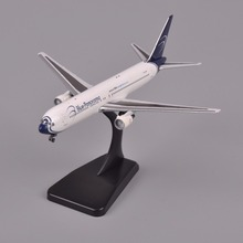 Aviation Airplane Model 1:400 Scale Boeing 767-300 Diecast Airplane Blue Panorama Aircraft Hobbies Model Toy Collections Gifts F