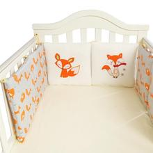 Buy 6 PCS per set 30 * 30cm cotton crib bedding bumper fence fox pattern model newborn cotton safety baby fence cloth for $18.17 in AliExpress store