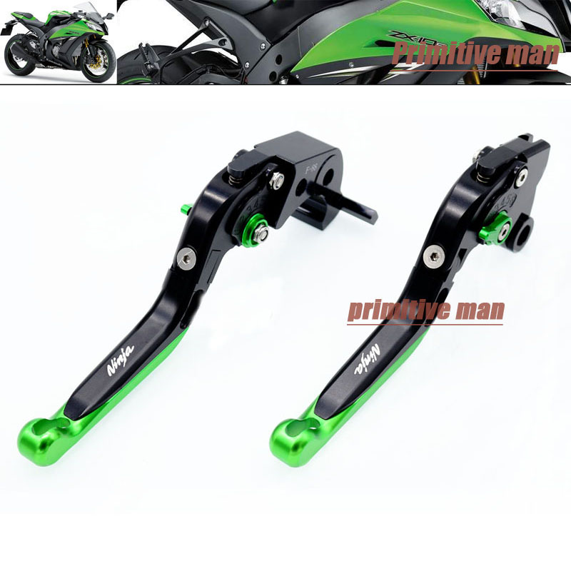 For KAWASAKI ZX-10R 2006-2013 Motorcycle CNC Adjustable Folding Extendable Brake Clutch Levers LOGO NINJA,ZX10R #A<br>