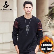 Pioneer Camp New style winter warm fleece hoodies men brand clothing top quality fashion male hoodies men sweatshirts  699059