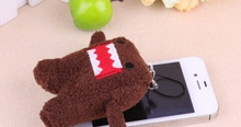 Plush Stuffed TOY String SIZE Mini 4*3CM DOMO Pendant Plush DOLL , BAG Key Chain TOY Bouquet Gift DOLL TOY(China)